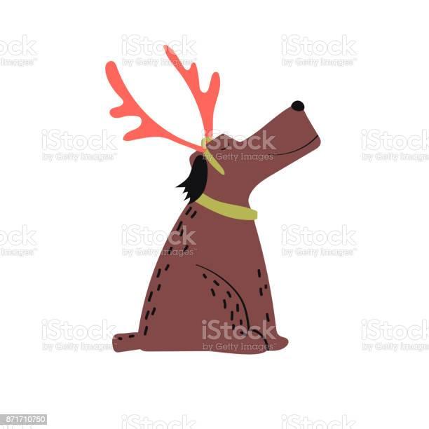Vector illustration christmas dog with horns isolated on white vector id871710750?b=1&k=6&m=871710750&s=612x612&h=kc8qqsbudq73deizn7hlvzxihrw4nzu2ln 6cfnp284=