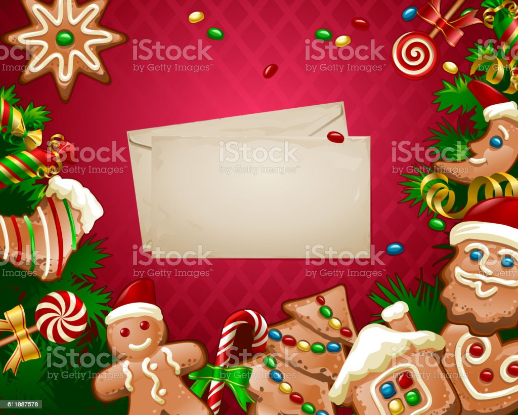 vector illustration christmas sweet background stock vector art