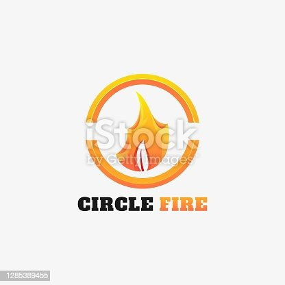 Vector Illustration Circle Fire Gradient Colorful Style.