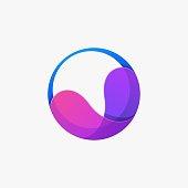 Vector Illustration Circle Liquid Gradient Colorful Style.