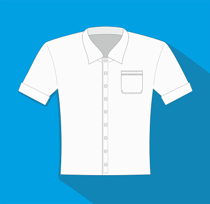 Vector illustration, Clothes related, dress shirt vector flat Icon. Symbol.