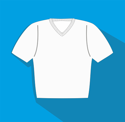 Vector illustration, Clothes related, T-shirt, sweather vector flat Icon. Symbol.