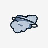 Vector Illustration Cloud Cute Cartoon.