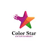 istock Vector Illustration Color Star Gradient Colorful Style. 1270204956