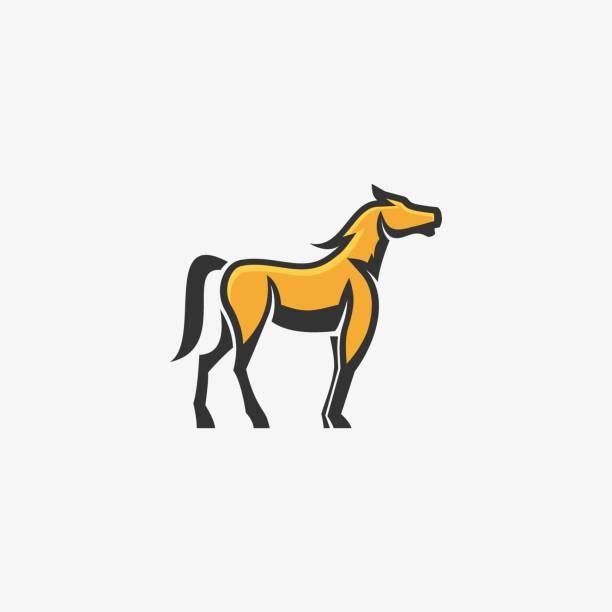 Vector Illustration Come Horse Mascot Cartoon. Vector Illustration Come Horse Mascot Cartoon. stallion stock illustrations