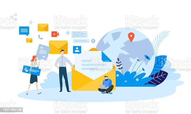 Vector Illustration Concept Of Email Marketing Stock Illustration - Download Image Now