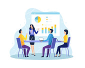 istock Vector illustration Concept of meeting and teamwork 1225028636