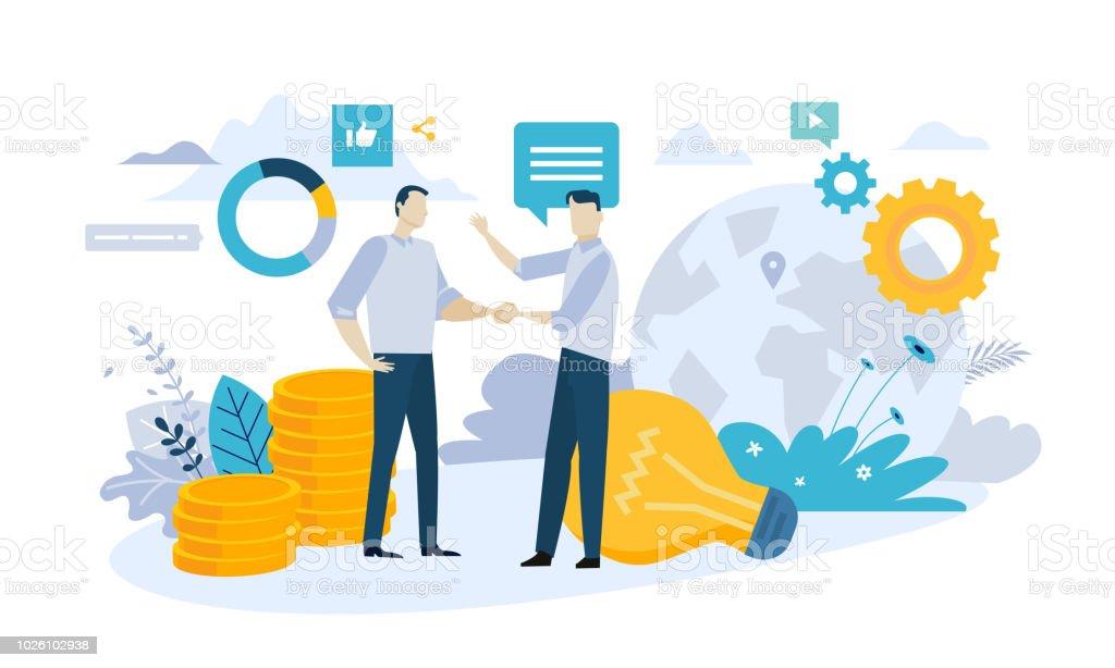 Vector Illustration Konzept der Partnerschaft – Vektorgrafik