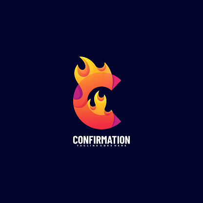 Vector Illustration Confirmation Gradient Colorful Style.