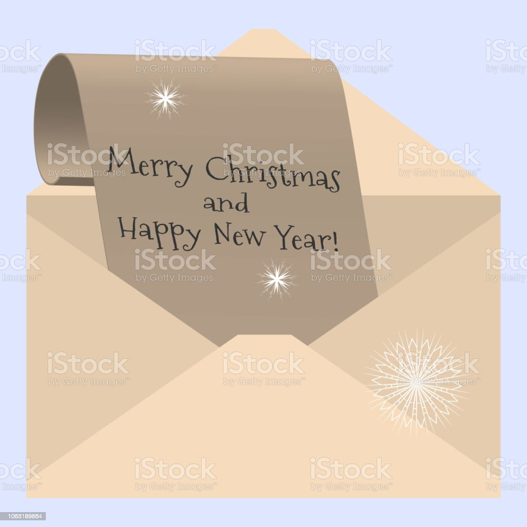 Carta De Felicitaciones De Navidad Y Ano Nuevo.Ilustracion De Vector Ilustracion Felicitaciones Por Navidad