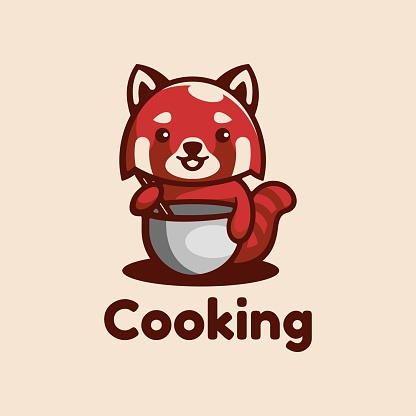 Vector Illustration Cooking Simple Mascot Style.