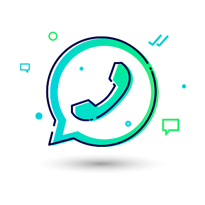 Vector Illustration Cool And Modern Telephone Icon