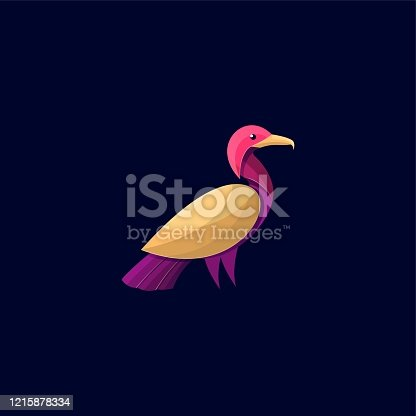 Vector Illustration Cormorant Colorful Style.