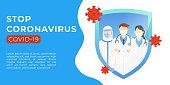 Vector illustration coronavirus COVID-19 design. Stop coronavirus COVID-19 sign, infographic, illustration, symbol vector design template. Coronavirus COVID-19 pandemic design Concepts.