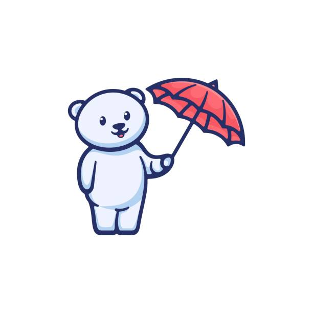 Vector Illustration Cute Bear Simple Mascot Style. Vector Illustration Cute Bear Simple Mascot Style. carnivorous stock illustrations