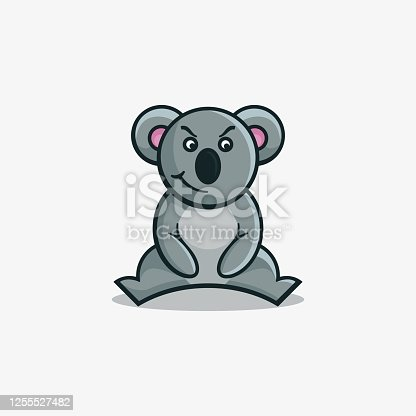 istock Vector Illustration Cynical Simple Mascot Style. 1255527482