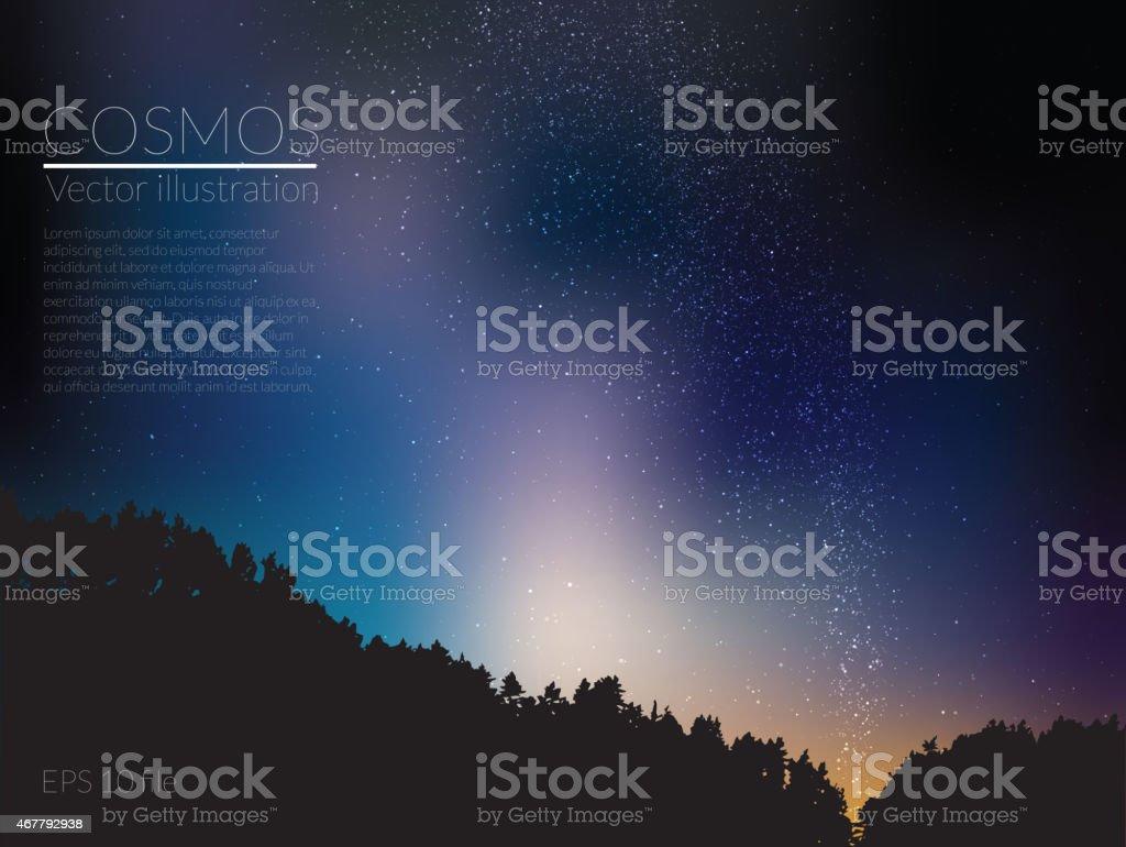 Vector illustration - deep sky night vector art illustration