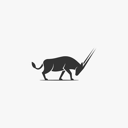 Vector Illustration Deer Silhouette Style.