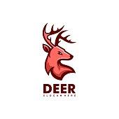 istock Vector Illustration Deer Simple Mascot Style. 1282408402