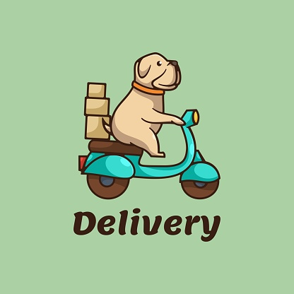 Vector Illustration Delivery Simple Mascot Style.