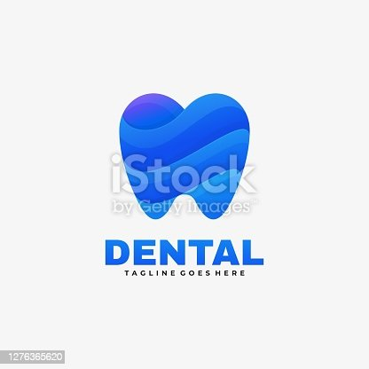 istock Vector Illustration Dental Gradient Colorful Style. 1276365620