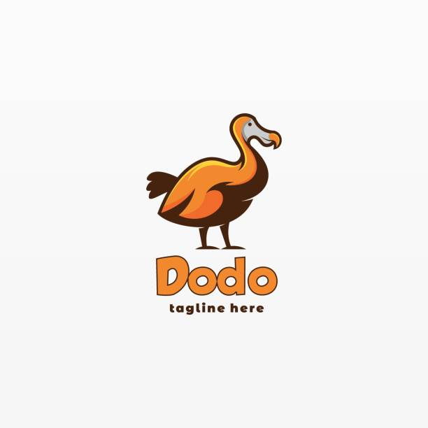 Vector Illustration Dodo Simple Mascot Style. Vector Illustration Dodo Simple Mascot Style. ducking stock illustrations