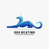 istock Vector Illustration Dog Heating Gradient Colorful Style. 1267455047
