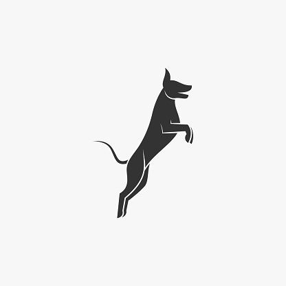 Vector Illustration Dog Silhouette Style.