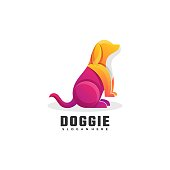 istock Vector Illustration Doggie Gradient Colorful Style. 1280989694