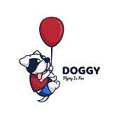 Vector Illustration Doggy Cute Cartoon Style.