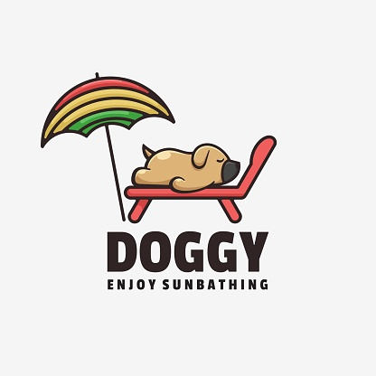Vector Illustration Doggy Simple Mascot Style.