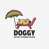 istock Vector Illustration Doggy Simple Mascot Style. 1269000398