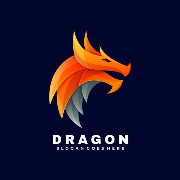 vektor-illustration dragon gradient bunten stil. - gliedmaßen körperteile stock-grafiken, -clipart, -cartoons und -symbole