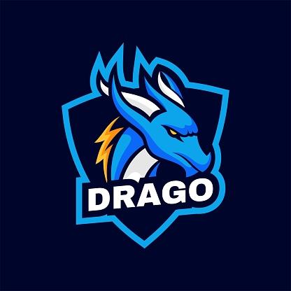 Vector Illustration Dragon Simple Mascot Style.