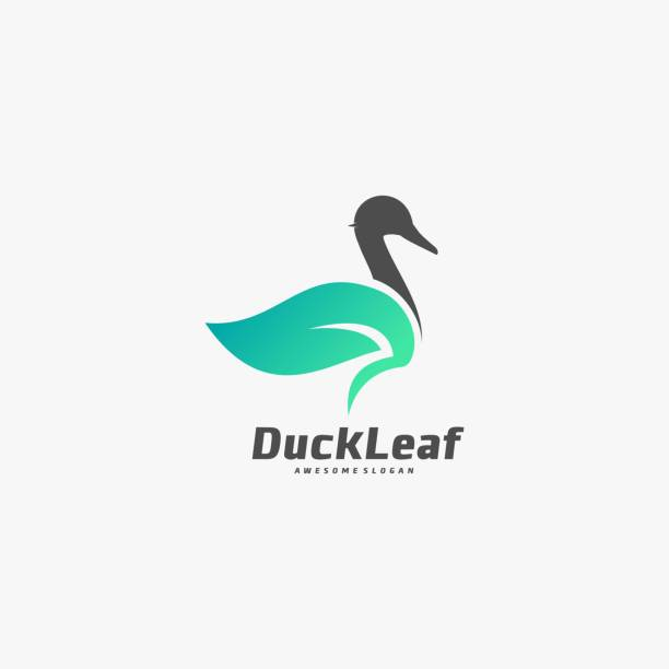 Vector Illustration Duck Leaf Dual Meaning Style. Vector Illustration Duck Leaf Dual Meaning Style. ducking stock illustrations