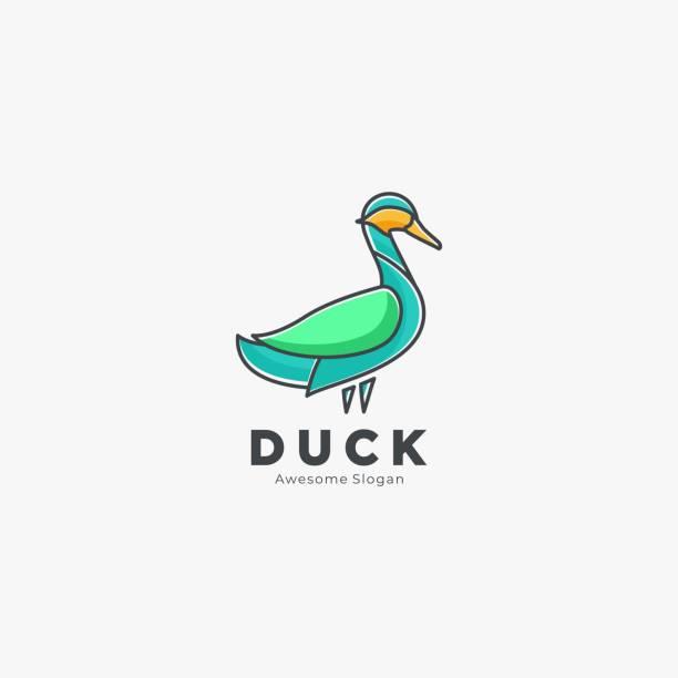 Vector Illustration Duck Pose Line Art Style. Vector Illustration Duck Pose Line Art Style. ducking stock illustrations