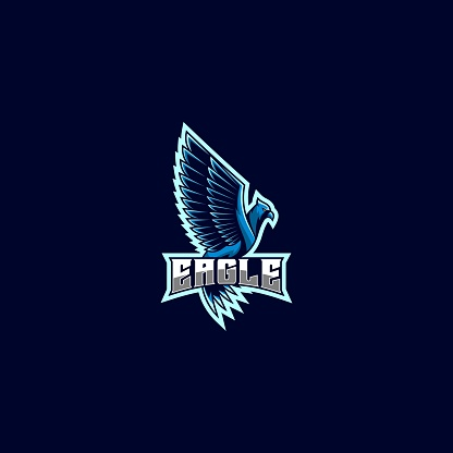 Vector Illustration Eagle Gaming E Sport and Sport Style.