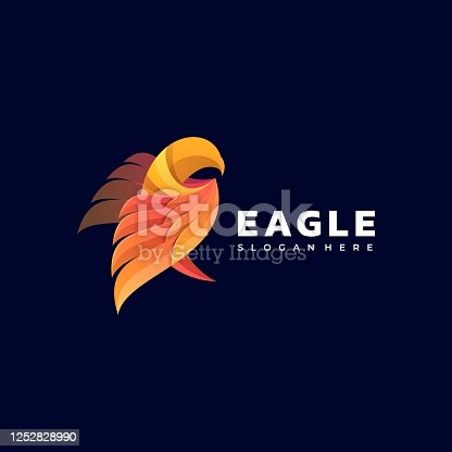 istock Vector Illustration Eagle Gradient Colorful Style. 1252828990