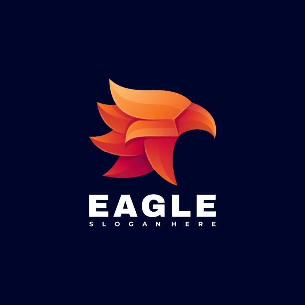 Vector Illustration Eagle Gradient Colorful Style. Vector Illustration Eagle Gradient Colorful Style. carnivorous stock illustrations