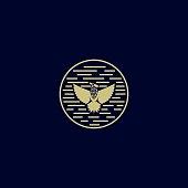 Vector Illustration Eagle Vintage Badge Style.
