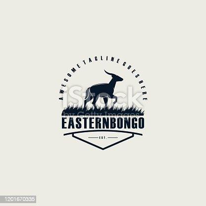 Vector Illustration Eastern Bongo Emblem.