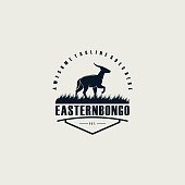 istock Vector Illustration Eastern Bongo Emblem. 1201670335