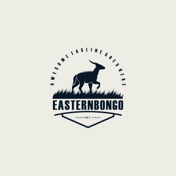 Vector Illustration Eastern Bongo Emblem. Vector Illustration Eastern Bongo Emblem. hoofed mammal stock illustrations