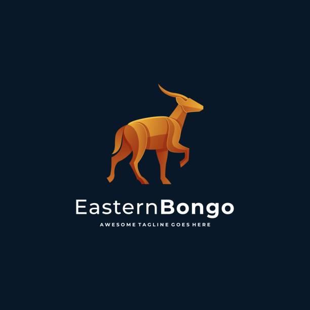 Vector Illustration Eastern Bongo Gradient Colorful. Vector Illustration Eastern Bongo Gradient Colorful. hoofed mammal stock illustrations