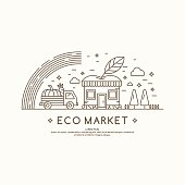 Vector illustration eco market.