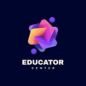 istock Vector Illustration Education Gradient Colorful Style. 1274493043