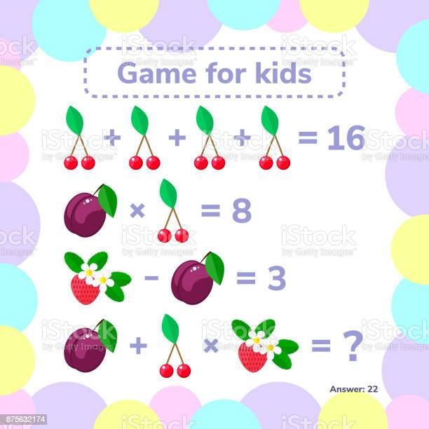 Vector illustration educational a mathematical game logic task for vector id875632174?b=1&k=6&m=875632174&s=612x612&h=dsvjgp2lrknuei6v5pjpe8pwklxzzfu2jqupqrryiyu=