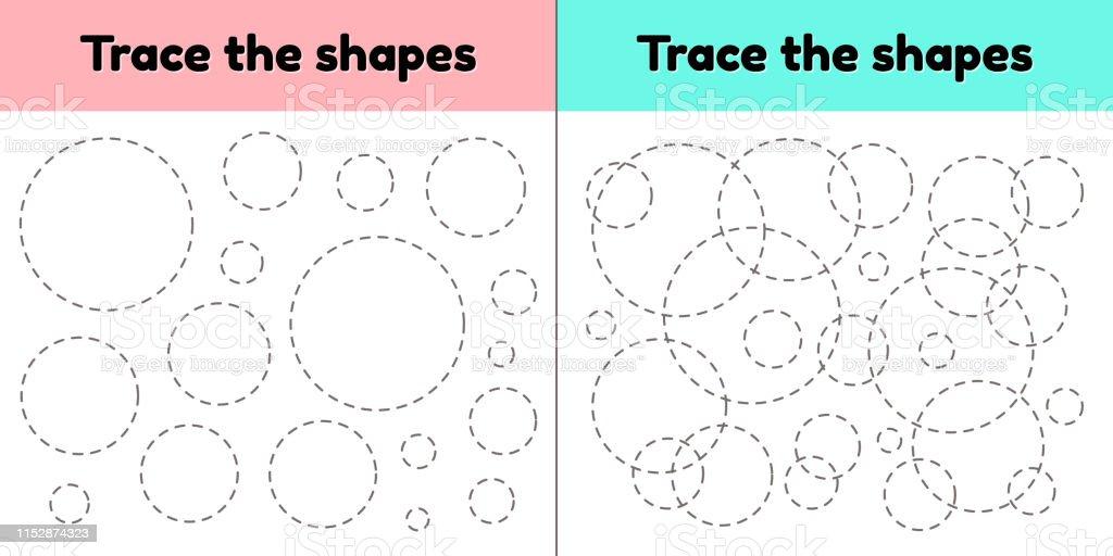 Vector Illustration Educational Tracing Worksheet For Kids ...