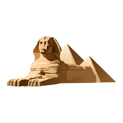 Vector illustration Egyptian sphinx