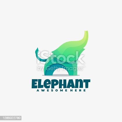 istock Vector Illustration Elephant Gradient Colorful Style. 1285022780